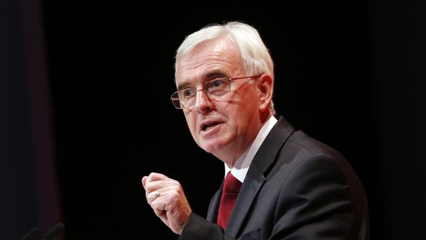 Shadow chancellor John McDonnell wants a U-turn on welfare cuts