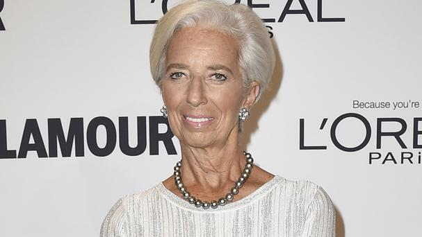 Christine Lagarde at the Glamour Women of the Year Awards at NeueHouse Hollywood in Los Angeles (Jordan Strauss/Invision/AP)