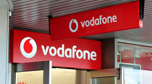 Vodafone's earnings were boosted by European sales.