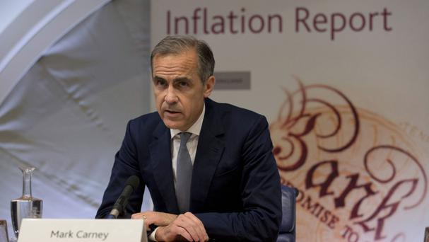 Mark Carney said the official figures for October were down to very volatile clothing and footwear prices