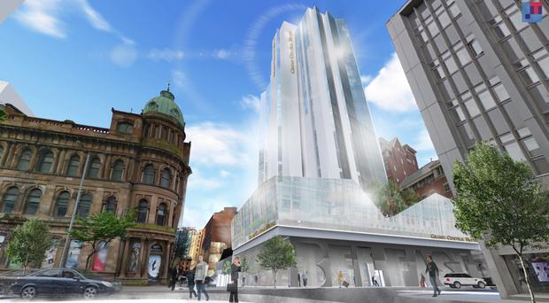 An artist's impression of the new Grand Central Hotel