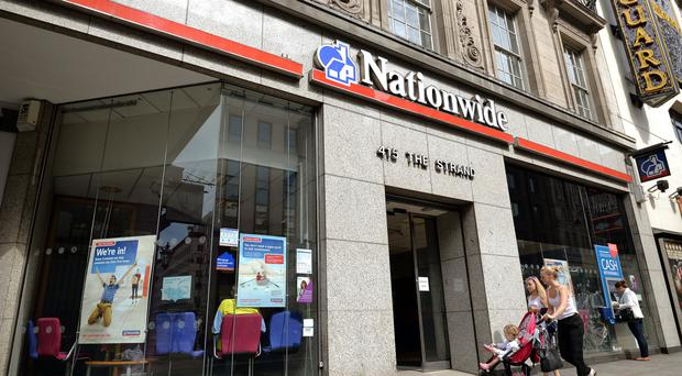 Nationwide said trading was 'strong' for the half-year, with gross mortgage lending jumping 17% to £17.5 million