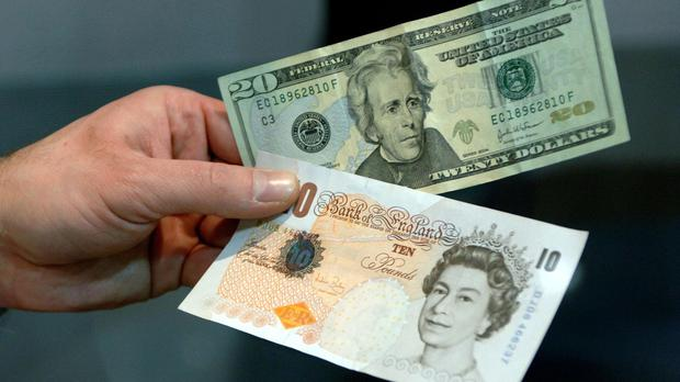 The dollar gained against sterling