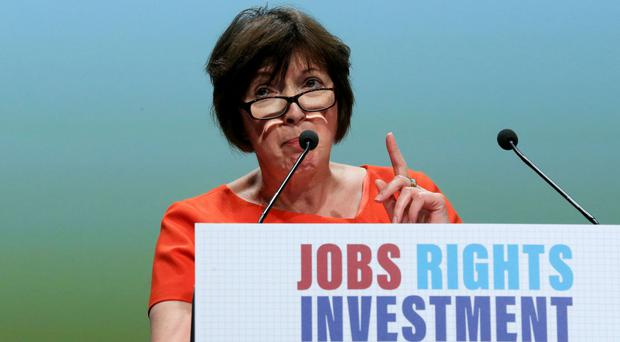TUC head Frances O'Grady has hit out at the PM over the role of workers in business boardrooms