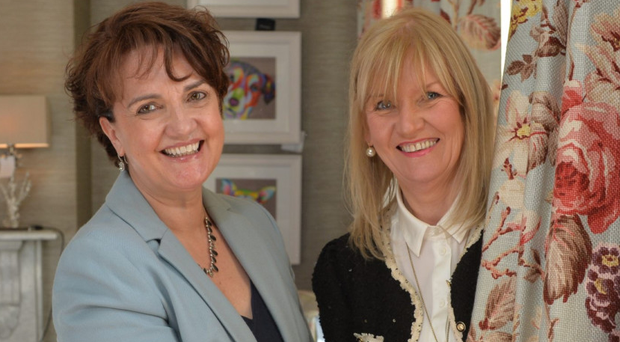 From left, Grainne McVeigh of Invest NI with Ruth Wilson of Beaufort Interiors