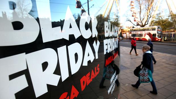 Shops along Edinburgh's Princes Street as retailers gear up ahead of Black Friday.