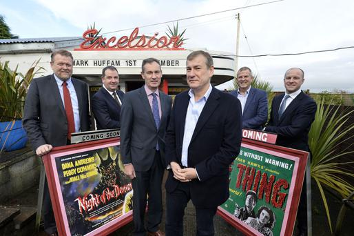 The importance of creativity to the economy was emphasised at last night's Chamber of Commerce dinner. The event featured Hollywood producer Mark Huffam (third right), joined by (l to r) Lars-Erik Aaroy of Charles Hurst, Paul Murnaghan of BT, Nick Coburn of the NI Chamber, Alan Egner of Power NI, and Patrick Brown of Tughans
