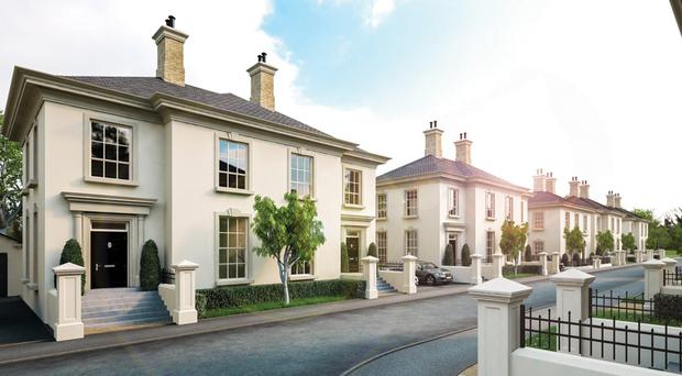 Artist's impression of how the houses in the Bashforde Park Village development in Carrickfergus could look