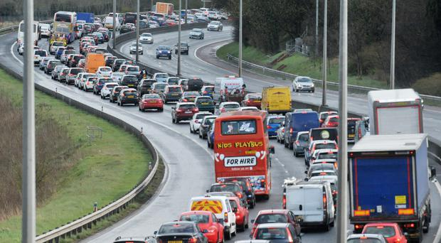 Incident happened on the M1 Westbound near the Applegreen M1 Motorway Services (File photo)