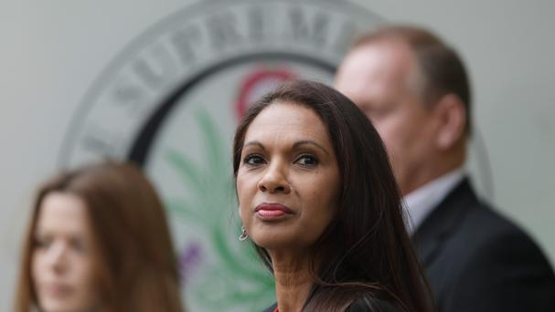Gina Miller arriving at The Supreme Court on the final day of the Government's appeal against the ruling