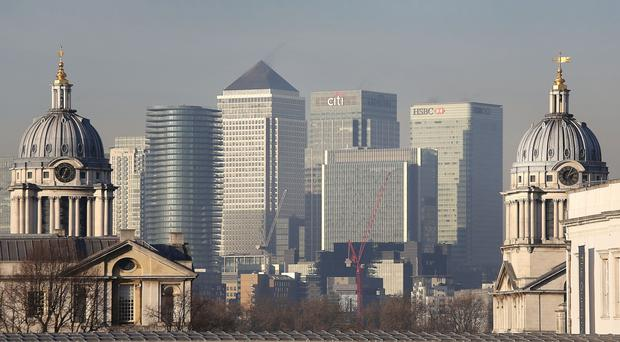 London's powerhouse financial sector has recorded its first annual rise in job vacancies since the Brexit vote