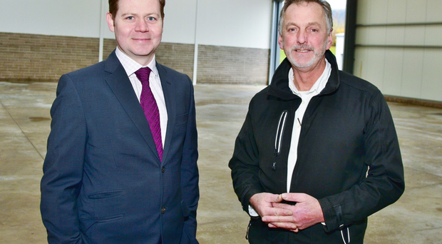 Andrew Gawley, associate director at Lisney Belfast, with Peter Lappin, managing director of Lappin Construction