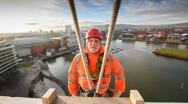 Vertical World's John Kelly pictured at the Arc apartments in Titanic Quarter