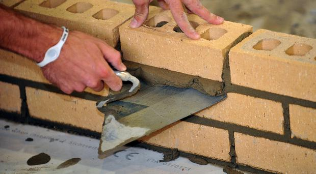 A shortage of skilled bricklayers is driving up pay