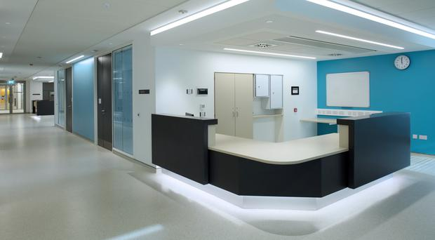 The new inpatient ward at the Ulster Hospital, which has been completed by Graham