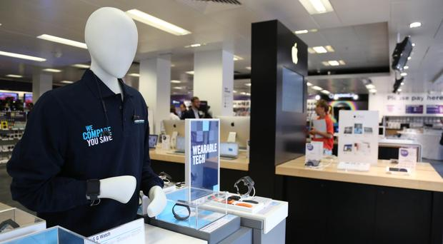 Dixons Carphone posted a 19% jump in underlying pre-tax profits to £144m for the six months to October 29