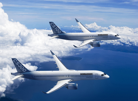 Bombardier's Belfast workforce makes the wings and part of the fuselage for both the CS300 and smaller CS100 passenger jets