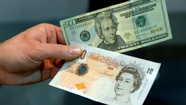 The pound fell as much as 0.8% against the US dollar to 1.23 before bouncing to 1.241 in afternoon trading