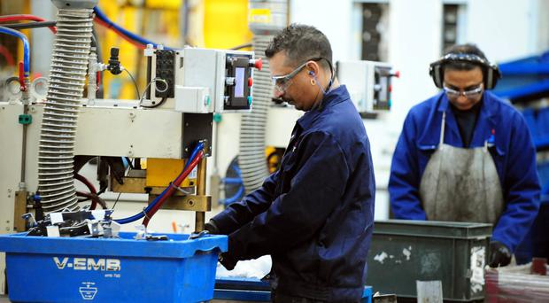Manufacturing saw the strongest growth rate