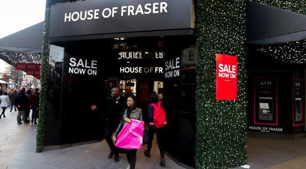 House of Fraser warned in September over high street conditions in the UK as it revealed