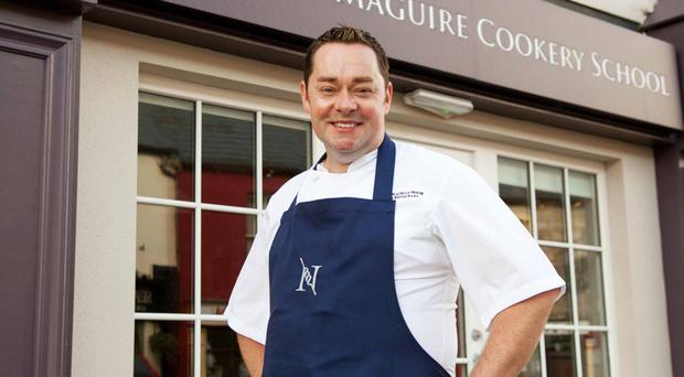 Chef Neven Maguire outside MacNean House and Restaurant in Blacklion, Co Cavan