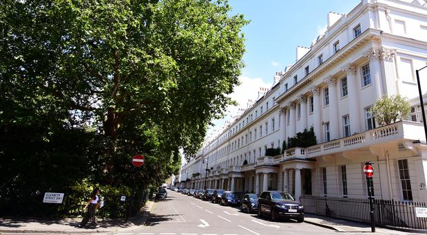Homes in Eaton Square fetch an average of £17 million