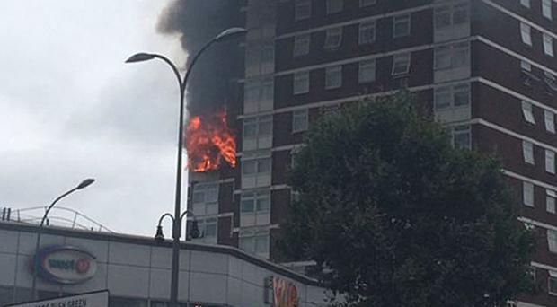 A fire at Bush Court, Shepherd's Bush Green, London was caused by a faulty tumble dryer, an investigation found (Liam Twomey/PA)