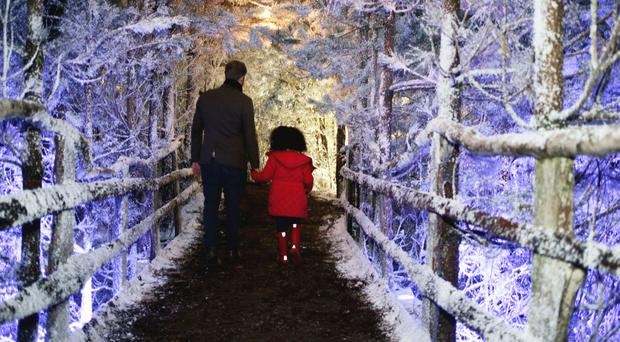 Lapland UK has had a number of high-profile visitors with their children