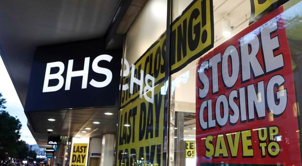 The BHS flagship store in Oxford Street, London, before it closed down.