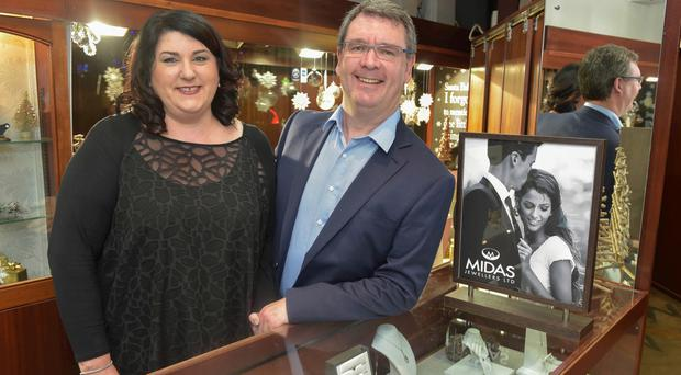 Lynne and Jim Conlon, owners of Midas Jewellers in Lisburn