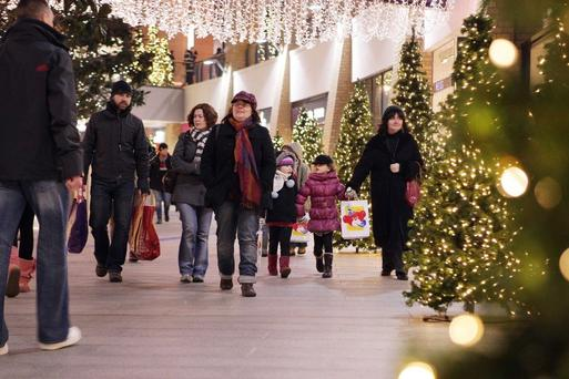 Retail figures for Victoria Square in Belfast city centre showed a record week of sales in the run-up to Christmas
