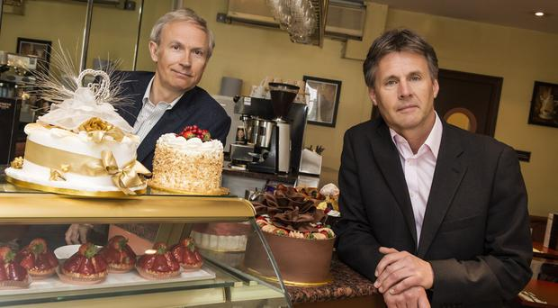 Luke Johnson (left) and Paul May of Patisserie Valerie