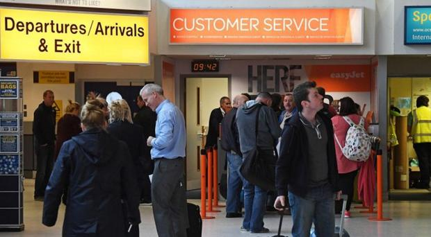 Passenger numbers at Belfast International Airport rose by almost 25%.
