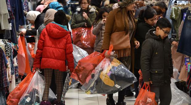Boxing Day sales - but financial experts are concerned surging prices from weak sterling will bring an end to the consumer spending spree that has helped prop-up growth since the referendum
