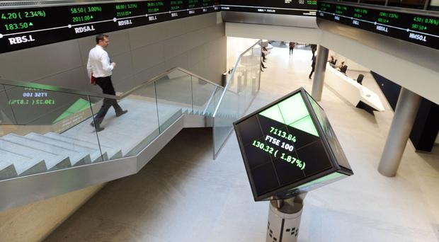 The FTSE 100 smashed its mid-session record and set a new all-time closing high by rising 22.57 points to 7,142.83