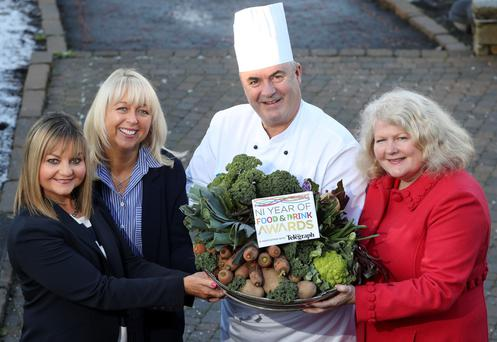 Susie Brown (left) from Tourism NI with Jackie Reid of the Belfast Telegraph, Paul McKnight, from the Culloden Hotel and Michele Shirlow of FoodNI