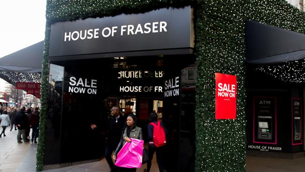 The House of Fraser sales rise marks a turnaround after the group warned over high street conditions in September