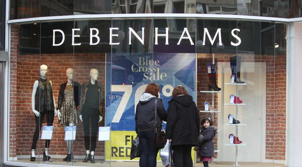 Debenhams said it held on to market share in the fiercely competitive clothing market