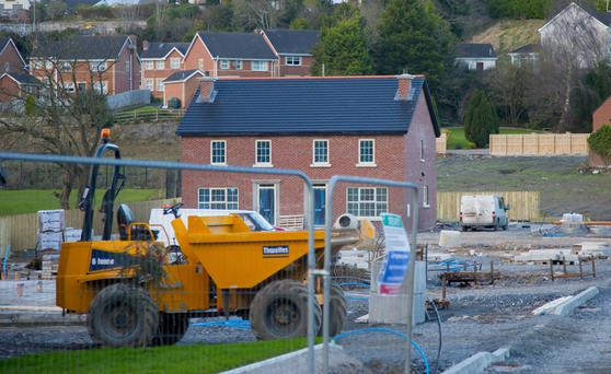 Work under way at the Dromore building site