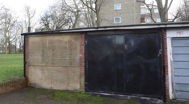 Disused garages on the Highbury Quadrant estate in north London
