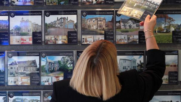 A lack of properties for buyers to trade up to could be holding activity back, a report has said