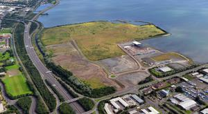 The Giant's Park site on the North Foreshore of Belfast which is earmarked for an ambitious redevelopment