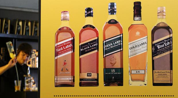 The maker of Johnnie Walker Scotch saw operating profits jump 28% to £2.1 billion in the six months to the end of December