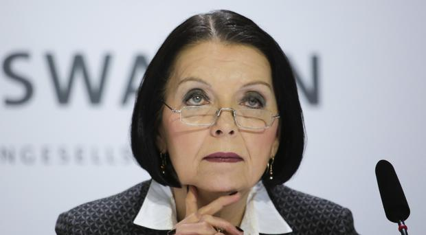 Ms Hohmann-Dennhardt is to leave the VW management board by mutual agreement at the end of the month (AP)