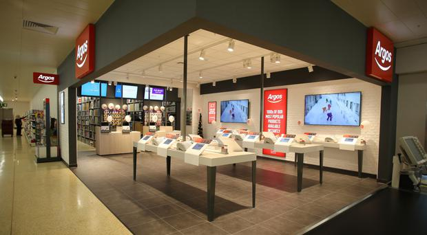 An Argos concession similar to the one that will open at Forestside shopping centre in east Belfast during April
