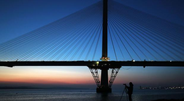 A forecast drop in the level of infrastructure activity is due in part to the completion of several major projects such as the Queensferry Crossing, the report said