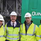 Seamus McMahon, sales director of Quinn Industrial Holdings; Peter Conway, chief executive of Warrenpoint Harbour Authority; Dara O'Reilly, chief finance officer of Quinn Industrial Holdings; and Kieran Grant, finance director of Warrenpoint Harbour Authority