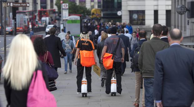 Whistl posties in the City of London