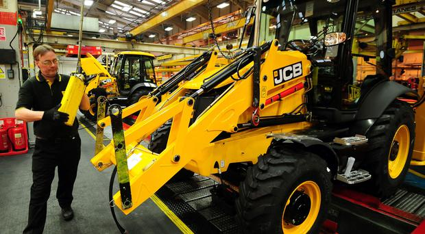 JCB's factory in Rocester, Staffordshire, as the manufacturing company announces winning a nine million pound deal