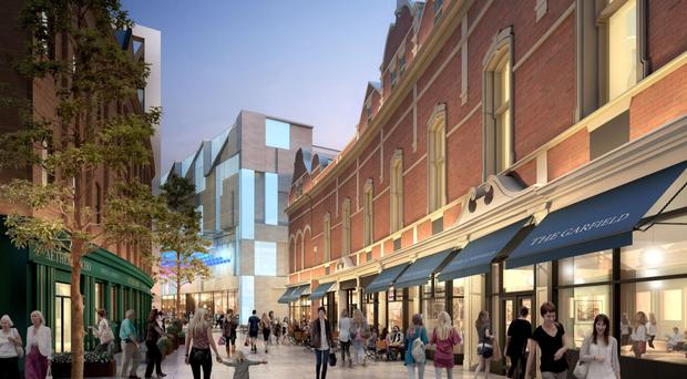 What part of the Royal Exchange scheme in Belfast city centre could look like once the redevelopment of the area is finally completed